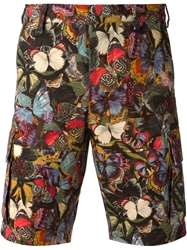 Valentino Butterfly Print Shorts Multicolour