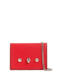Alexander Mcqueen Leather Wallet W Chain Red