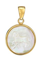 Asha Women's Zodiac Mother Of Pearl Charm Aries