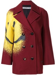 Alexander Wang Smiley Face Houndstooth Coat 60