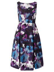 Adrianna Papell Floral Prom Dress Purple