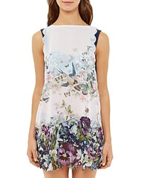 Ted Baker Entangled Enchantment Swim Cover Up Tunic Dark Blue