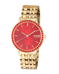 Versus By Versace Manhasset Round 42Mm Lion Dial Women's Watch Golden Red
