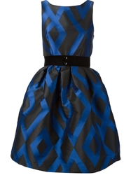 P.A.R.O.S.H. 'Prom' Patterned Dress Blue