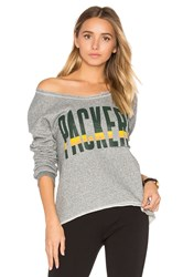 Junk Food Packers Sweatshirt Gray