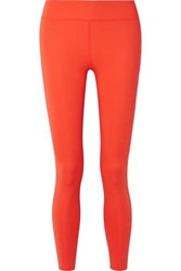 Calvin Klein Printed Two Tone Stretch Leggings Bright Orange
