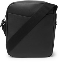 Dunhill Hampstead Full Grain Leather Messenger Bag Black