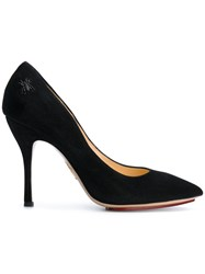 Charlotte Olympia Bacall Pumps Leather Suede Black