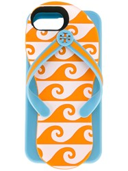 Tory Burch Flip Flop Iphone 6 7 Case Women Acrylic One Size Blue