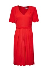 Great Plains Sadie Scallop Tea Dress Red
