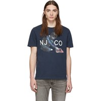 Nudie Jeans Navy Logo Boy Roy T Shirt