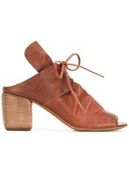 Marsell Lace Up Mules Brown