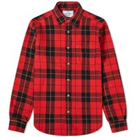 Portuguese Flannel Colorado Check Overshirt Red