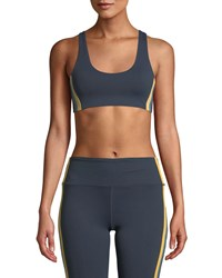 Spiritual Gangster Shakti Side Stripe Sports Bra Bright Blue