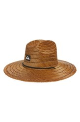 Quiksilver Pierside Straw Outback Hat Dark Brown
