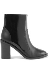 Zimmermann Paneled Patent Leather Ankle Boots Black