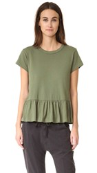 The Great Ruffle Tee Camo Green