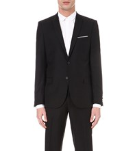 The Kooples Single Breasted Wool Jacket Black