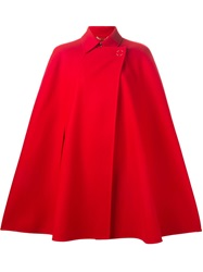 Versace Double Breasted Cape Red