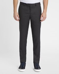 M.Studio Charcoal Maximilian Regular Wool Suit Trousers Grey