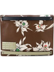 Valentino Garavani 'Hawaiian Couture' Clutch Brown