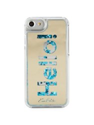 Edie Parker Hello Floating Phone Case Blue