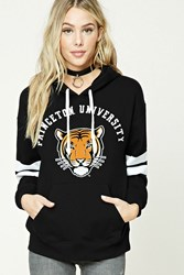 Forever 21 Princeton University Hoodie Black Orange