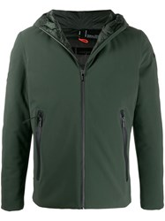 Rrd Feather Down Hooded Jacket Green