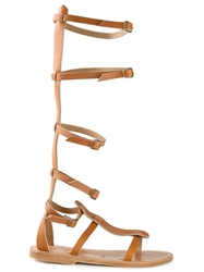 K. Jacques Strappy Gladiator Sandals Nude And Neutrals