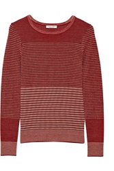 Current Elliott Charlotte Gainsbourg The Jacquard Wool And Cashmere Blend Sweater Red