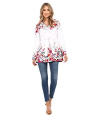 Jessica Simpson Belted Floral Trench Multi Women's Coat