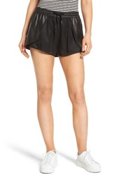 Blank Nyc Women's Blanknyc Hugs And Kisses Faux Leather Trim Skort Black