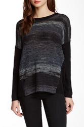 Curio Boxy Space Dye Pullover Sweater Gray