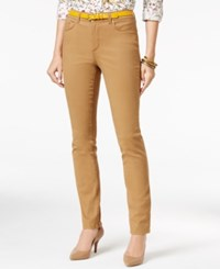 Charter Club Lexington Colored Wash Straight Leg Jeans Only At Macy's Salty Nut