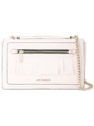Love Moschino Logo Plaque Satchel White