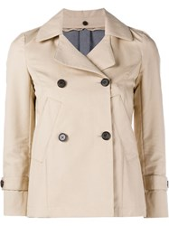 Golden Goose Deluxe Brand Doris Pea Coat Nude And Neutrals