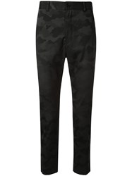 Loveless Camouflage Tailored Trousers Black