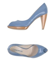 Grey Mer Pumps Sky Blue
