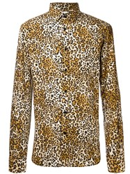 Saint Laurent Leopard Print Shirt Multicolour