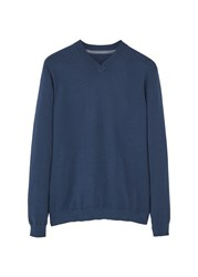 Mango Men's V Neck Sweater Navy