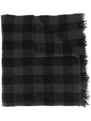 Rick Owens Checked Scarf Black