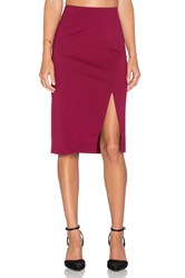 Minty Meets Munt Twisted Fate Skirt Wine