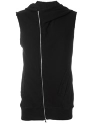 Lost And Found Rooms Sleeveless Zipped Hoodie Black