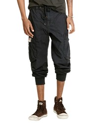 Denim And Supply Ralph Lauren Cargo Joggers Army Black