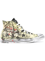 Converse Hi Top Sneakers Men Canvas Rubber 40 Yellow Orange