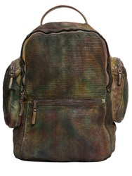 Giorgio Brato Washed Leather Embossed Leather Backpack
