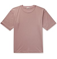 Camoshita Cotton And Silk Blend Jersey T Shirt Pink