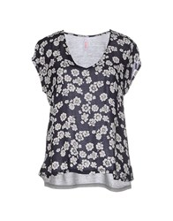 Sun 68 Topwear T Shirts Women Dark Blue