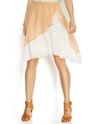 Studio M Colorblocked Chiffon Skirt