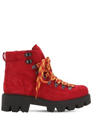 Morobe 30Mm Suede Hiking Boots Red